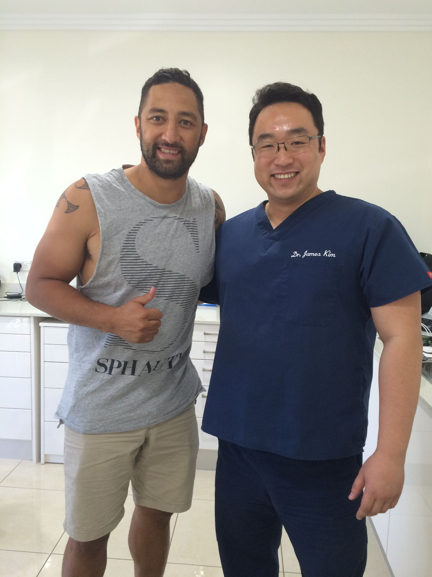 Benji Marshall, professional rugby footballer in Hills Dental Care