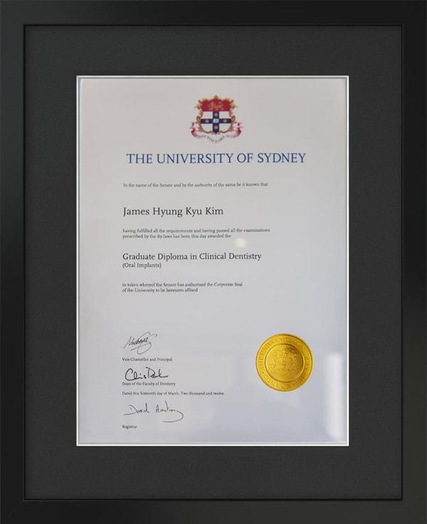 University of Sydney James Kim Bachelor Diploma