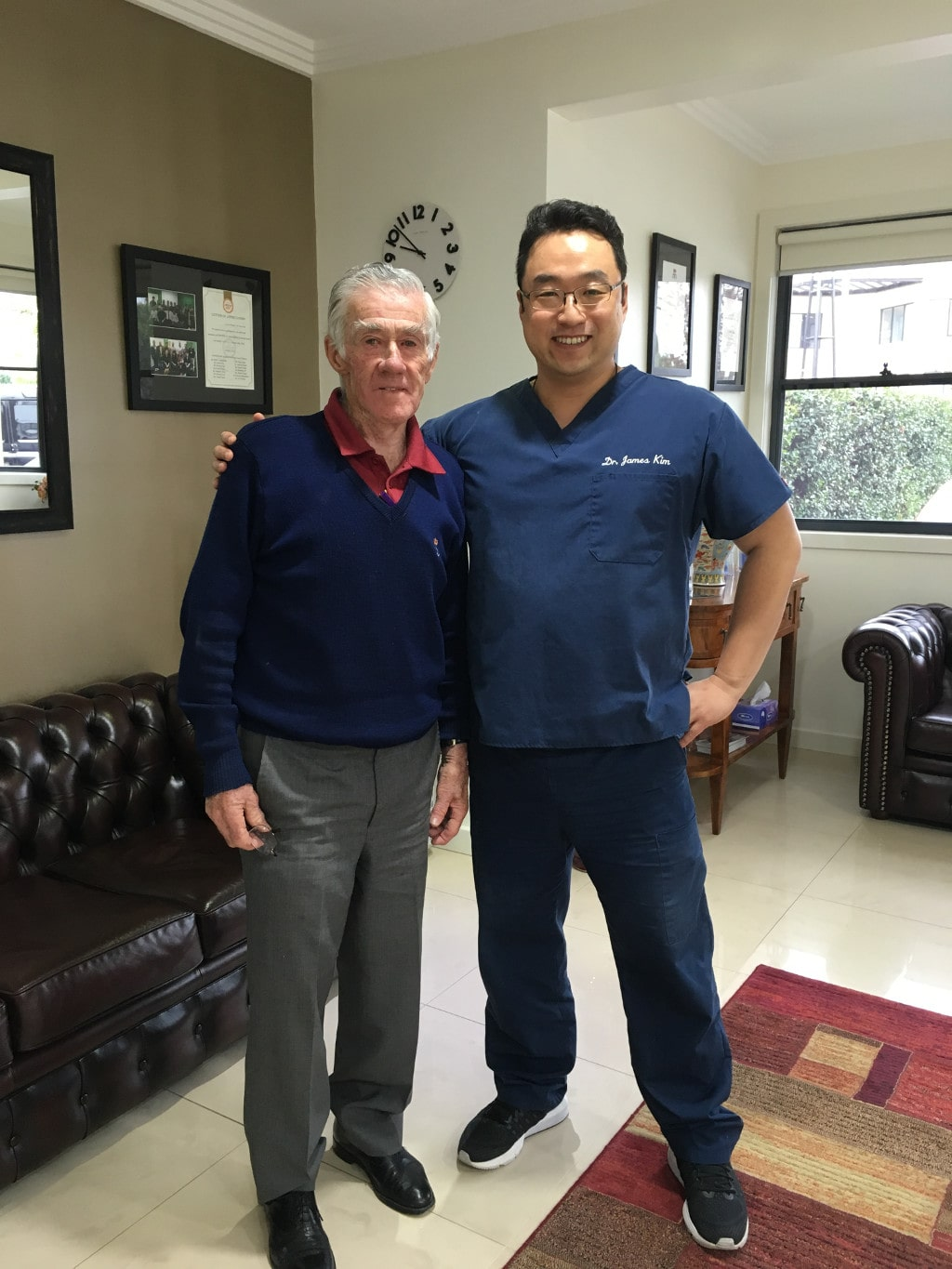Ken Rosewall, former world top-ranking amateur and professional tennis player in Hills Dental Care
