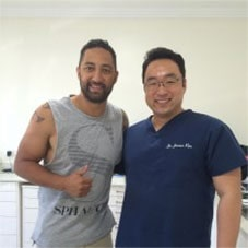 Benji Marshall in Hills Dental Care